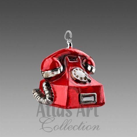Старый телефон красный