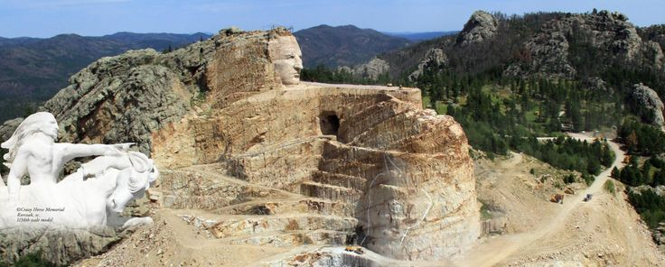 Crazy Horse and Mount Rushmore, Black Hills SD