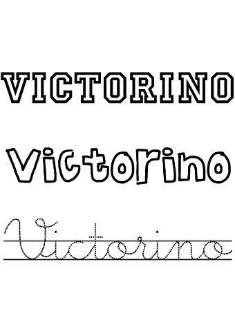 Victorino. Nombres para niños