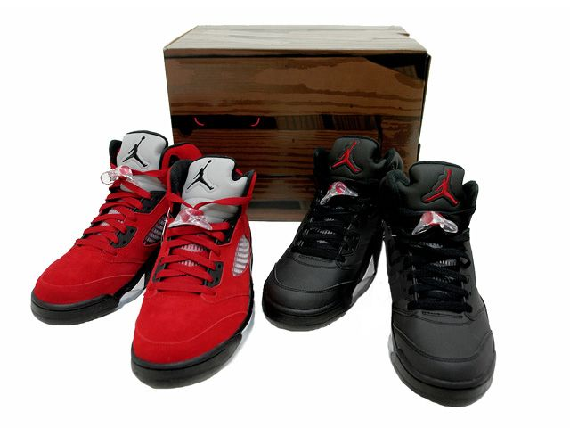 Air Jordan 5 (V) - Raging Bull Pack - Varsity Red / Black | Raging Bull, Air Jordans and Red Black