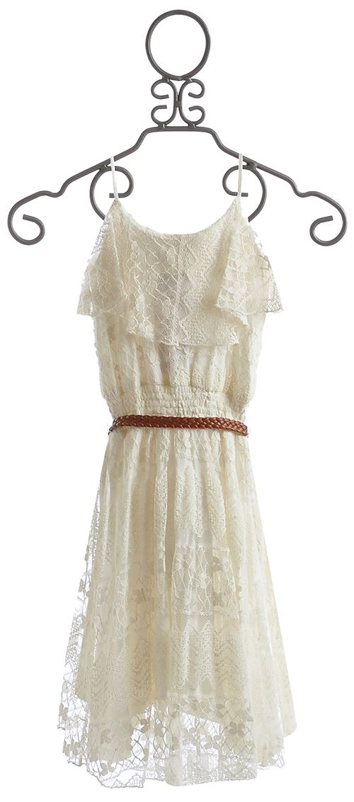 images of lace clothing for girls and tweens | ... > Girls Clothing Sale Size 7-14 > Tru Luv Tween Ivory Lace Dress