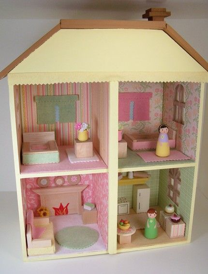 adorable peg doll house
