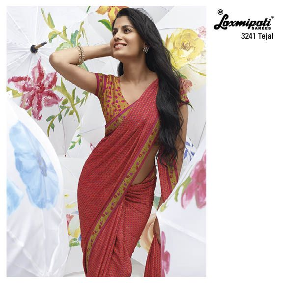 """Elegance is the only beauty that never fades""... This design is our ever-time hit designer printed saree. Make it elegant!"