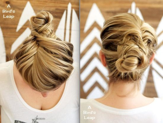 fishtail bun - and other fishtail braid styles