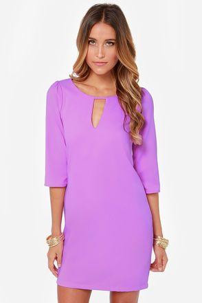 Cutout of Control Purple Shift Dress at Lulus.com!