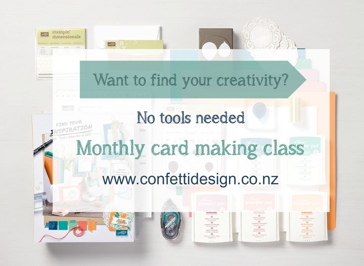 Unleash your creativity at my card making class. No need to buy tools just come along and see how much fun it is.