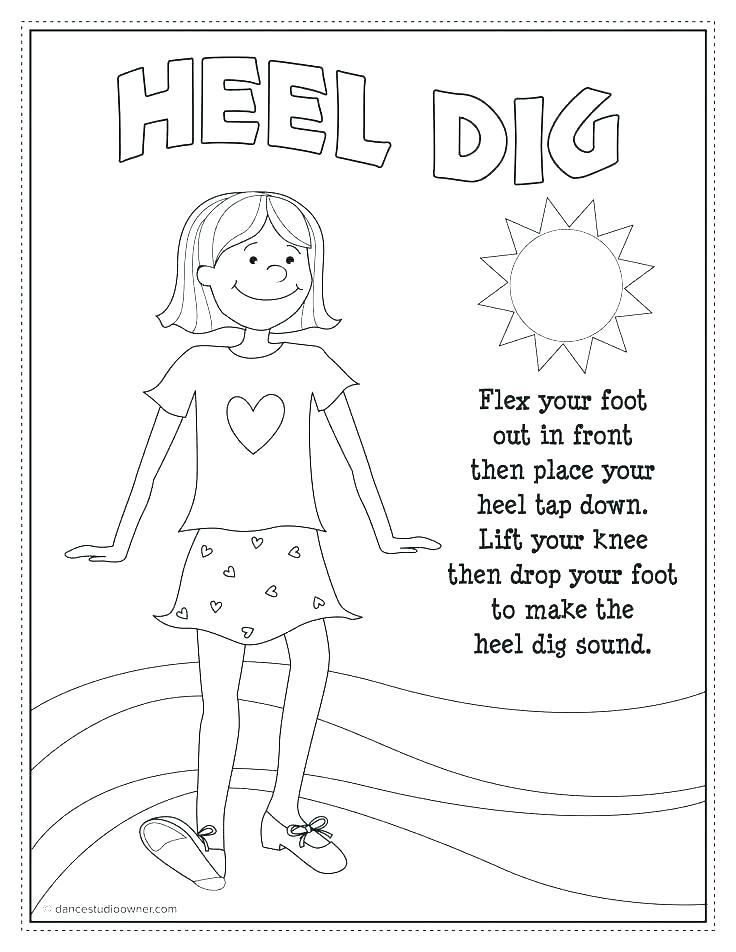 Irish Dance Coloring Pages Free Printable Tap Dance Teach Dance