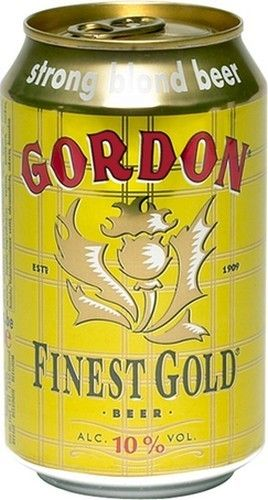 GORDON FINEST GOLD Gordon Finest Gold is a high fermentation beer Anglo-Saxon and traditional Scottish character. Gordon Finest Gold is a beer blonde and golden color to the clear transparency topped a little tight white foam. Gordon Finest Gold gives off aromas of caramel nose, malted grain and spice notes fail to mask the presence of alcohol (10 °). The sweet and syrupy aspect of Gordon Finest Gold, mask the bitterness of this lager and the finish is dry and slightl try to…