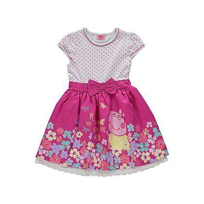 Peppa Pig Dotty Floral Dress | Kids | George at ASDA