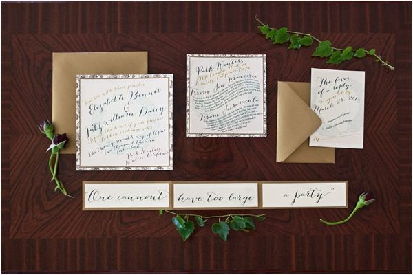 Pride and Prejudice Wedding Inspiration by Shannon Morse Photography.  Invitations by Invitations Ink.  Featured on Le Magnifique blog.