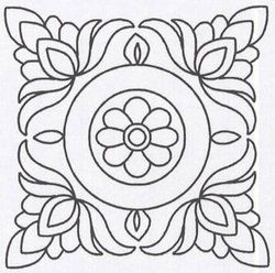 "Heavenly Hills Fabrics - Shop | Category: Stencils | Product: Quilt Stencil Floral Block - 11"" (1024)"