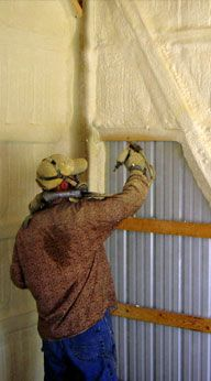 Home Insulation - FoamRite - POLE BARNS - Benefits to save on energy costs, increase your R-Value, insulate your house, seals walls, ceilings and basements.