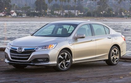 The 2014 Honda Accord Plug-In Hybrid debuts in California and in New York only. Check out the styling differences.