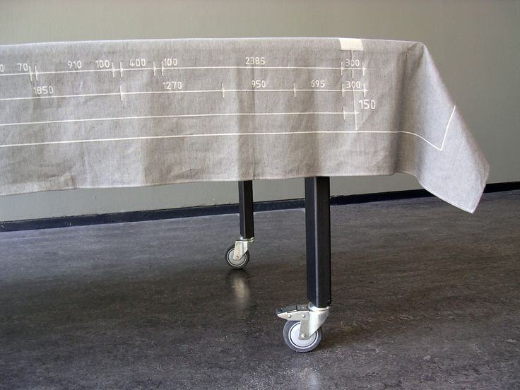 2005 Commissioned by Dutch Textile Museum (1st prize) 50% cotton, 50% linen Table cloth 280x160cm / napkin 50x50cm price € 325,- table cloth including 6 napkins sales by Studio Sybrandy