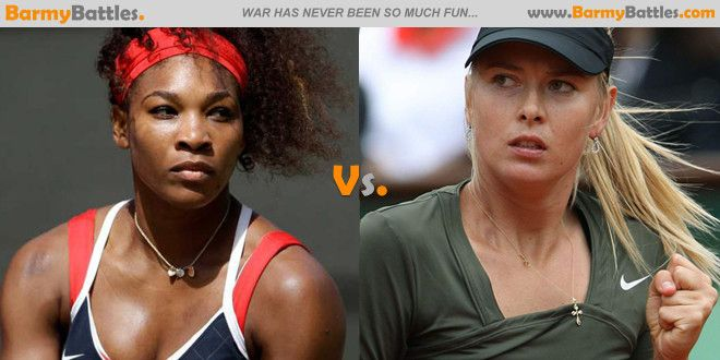 Serena Williams and Maria Sharapova are two of the top female tennis players in the world at the moment. Who is your favorite to watch court? Vote now and have your say. Vote Now! http://www.barmybattles.com/2013/06/02/serena-williams-vs-maria-sharapova/
