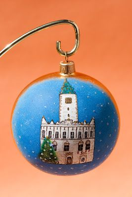 Bombka- Ratusz Chełmno (ręcznie malowana)