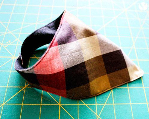 hacer un babero bandana de tela