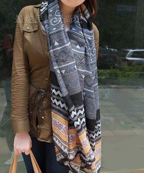 Hmong Inspired Scarf, but they said it's Aztec.