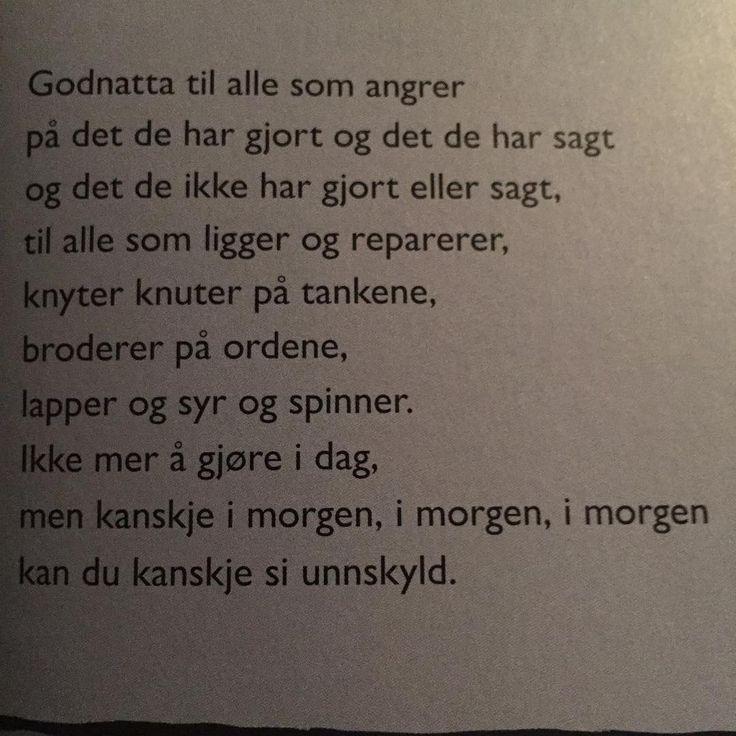 """""""Skal du lese EN diktsamling i år (unntatt Ren poesi-boka da), vil jeg anbefale God natt, natt av Gro Dahle. Jeg begynte å gråte da jeg leste den. En serie…"""""""