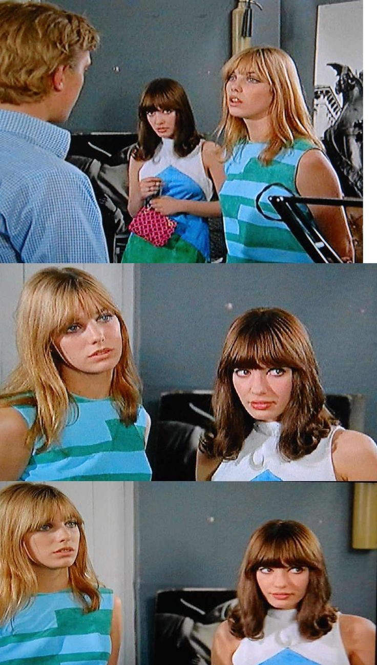 David Hemmings, Jane Birkin, and Gillian Hills in Blow-Up (1966). Costumes by Jocelyn Rickards.