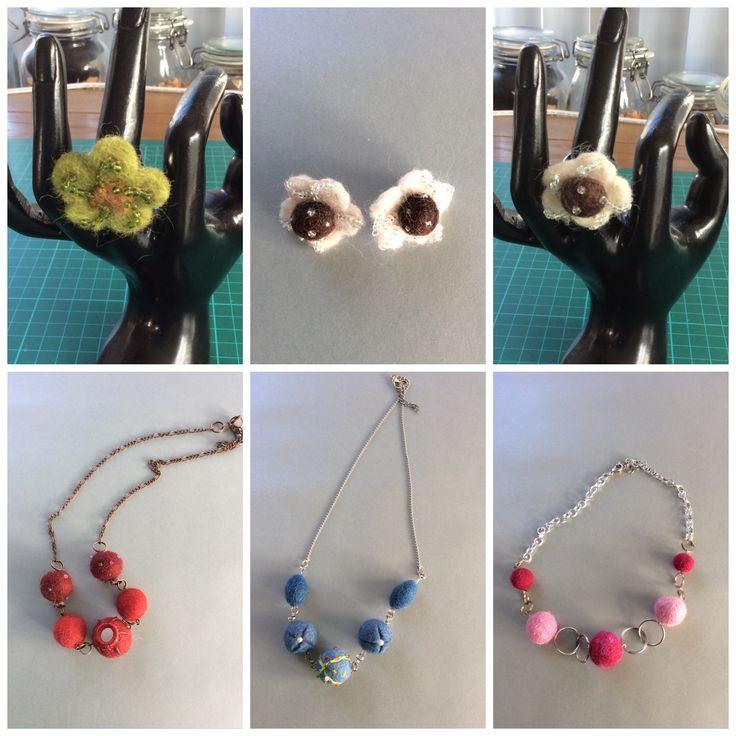 Jewelry felt, necklace, ring, Earring, felt