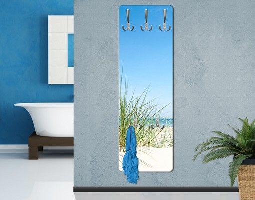 #Wandgarderobe - Ostseeküste - Garderobe Maritim - Garderobenhaken Edelstahl #Flur #Gestaltung #Diele #Ideen #Dekoration #Schöner #Wohnen