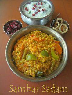 Sambar Sadam   South Indian Sambar Rice