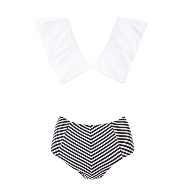 Flauschige Rüschen Badeanzug 2019 Bikinis Frauen Bademode Slips Push Up Bikini Slips   – mode