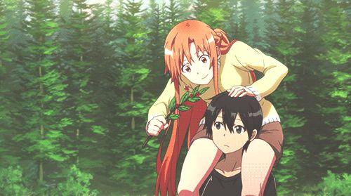 (GIF) Kirito and Asuna <3