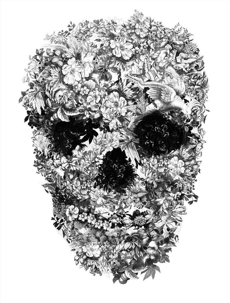 jacky tsai: Alexander Mcqueen, Jackie Tsai, Flower Skull, Illustration, Digital Art, Floral Skull, Beautiful Skull, Fashion Blog, Skull Art