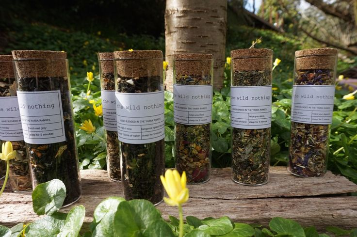 Gorgeous test tube teas, each makes approximately 20 cups.  Visit www.thewildnothing.com.au for more info or to purchase