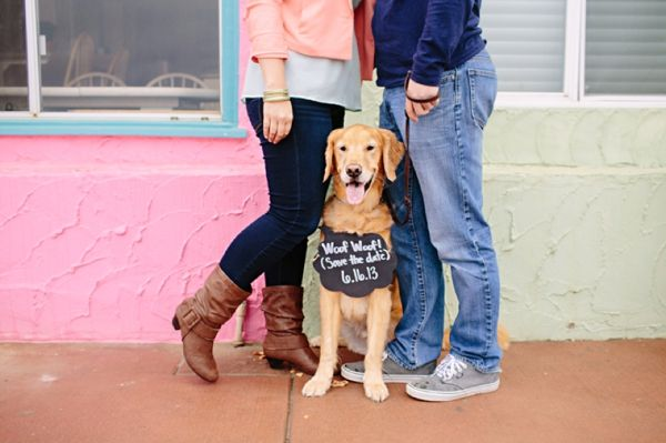 Cutest Engagement Shoot with a Pup from Mirelle Carmichael Photography