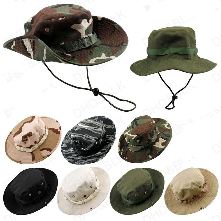 2015 NEW Hat Boonie Hunting Fishing Outdoor Men Cap Washed Cotton W/ STRINGS #Unbranded
