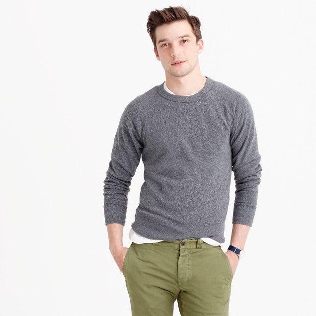 Brushed fleece sweatshirt : Men sweatshirts   J.Crew