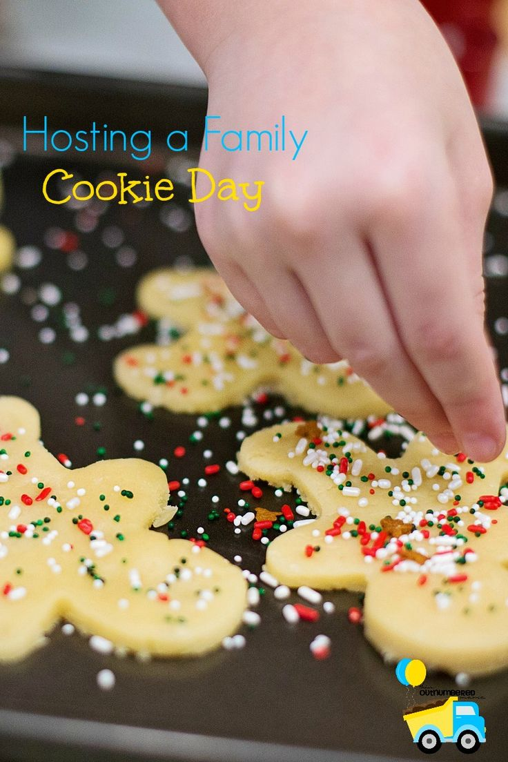 Our family's favorite holiday tradition is our annual Cookie Day when all of the kids we know come to decorate cookies for Santa (with some surprises!)