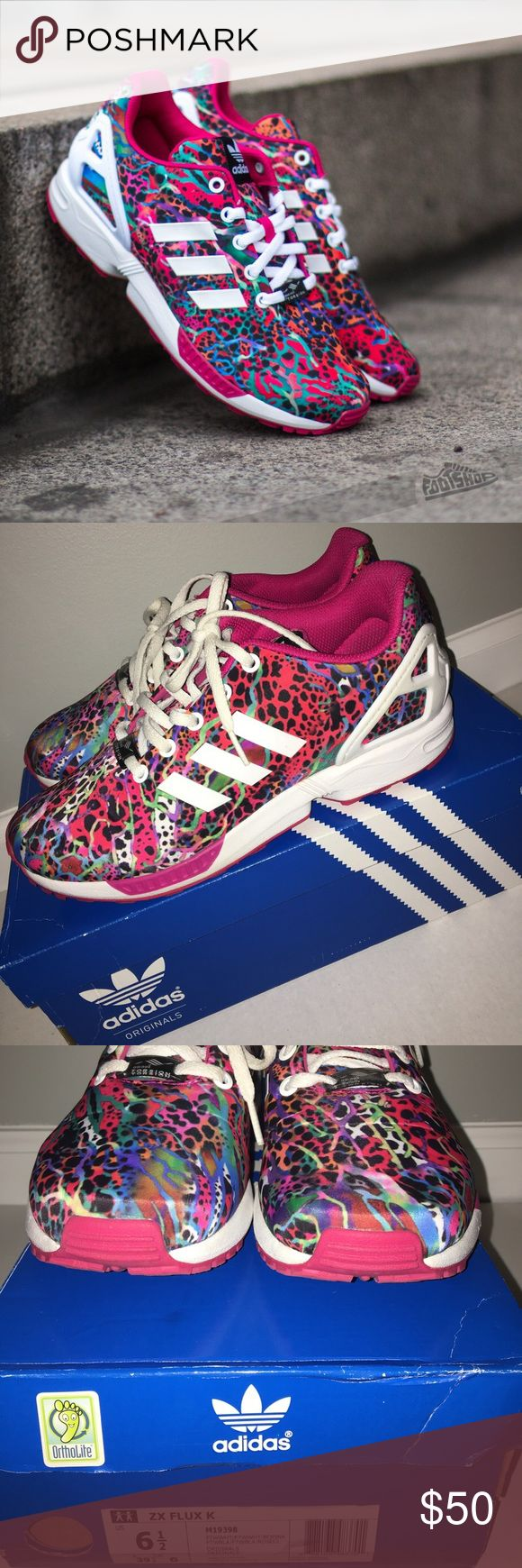 Adidas Torsion ZX Flux Shoes Adidas Shoes  *Has been worn  *Still have the original box  *Is a men's 6.5 but it will fit a women's 8 (I'm a women's 8 but can fit a men's 6.5 😊) adidas Shoes Sneakers