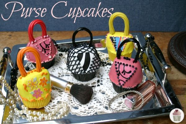 Purse Cupcakes a.k.a. Handbags {Mother's Day, Birthday Cupcakes}