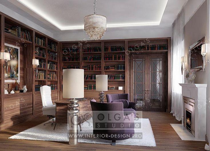 Дизайн кабинета в стиле арт-деко