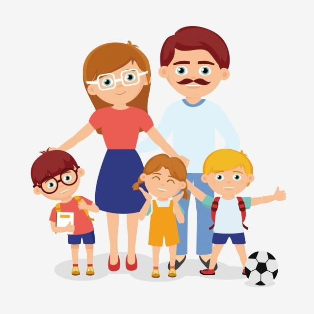 Brothers And Sisters Parents Father Mother Child Brother Sister Png And Vector With Transparent Background For Free Download Family Cartoon Family Vector Cute Family