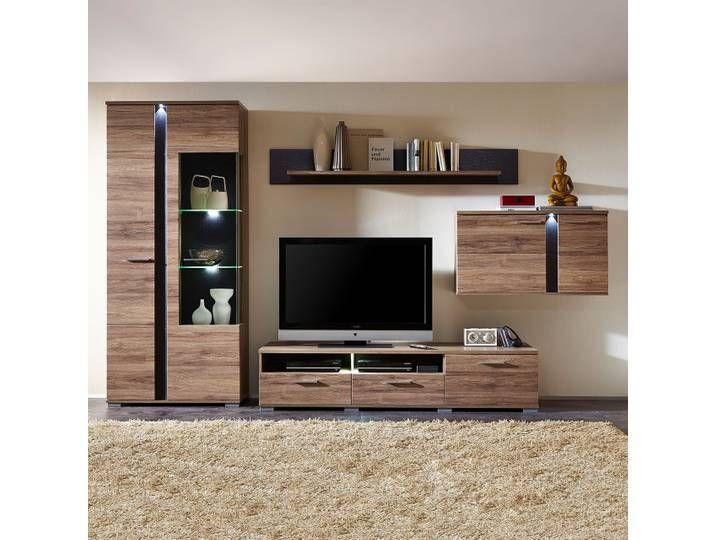 Wohnwand Campo Ii 4 Teilig In 2020 Flat Screen Furniture