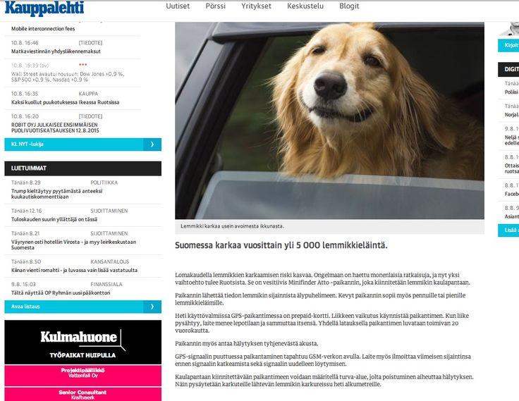 Kauppalehti uutisoi Minifinder-paikantimesta 6/2015.