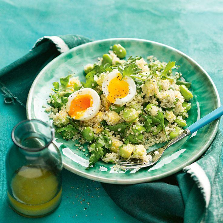 How to make the perfect salad - Avocado, Quinoa & Broad Bean. #Avocado #Quinoa #Salad #Autumn #AustralianAvocados