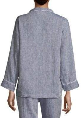 6f97ef7df Marina Linen Pajama Shirt #Linen#Marina#Shirt | Women's Lounge Wear in 2019  | Pajama shirt, Men sweater, Shirts