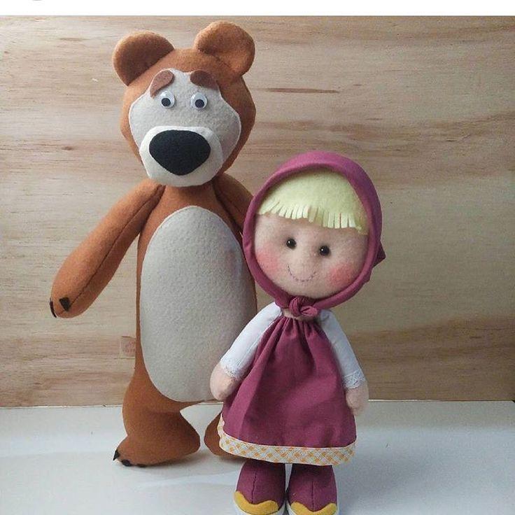 Mamães Festeiras do ES: Desenho queridinho do pequenos, Masha e o Urso, em feltro pela @art_e_manha para decorar aquela ...