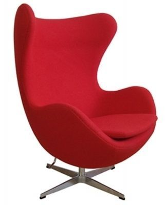 We just Love The rocking egg adult size chair. It combines the classic egg chair styling with the practicality of a rocking function making it the ideal chair for any nursery. #nursery #incyinteriors #furniture #feedingchairs #red