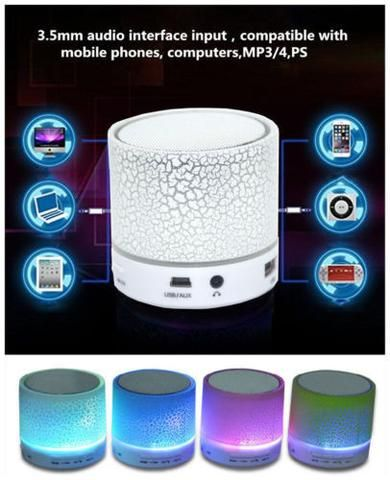 BD Portable Wireless Cracks Night Light LED MINI Bluetooth Music Speaker Box