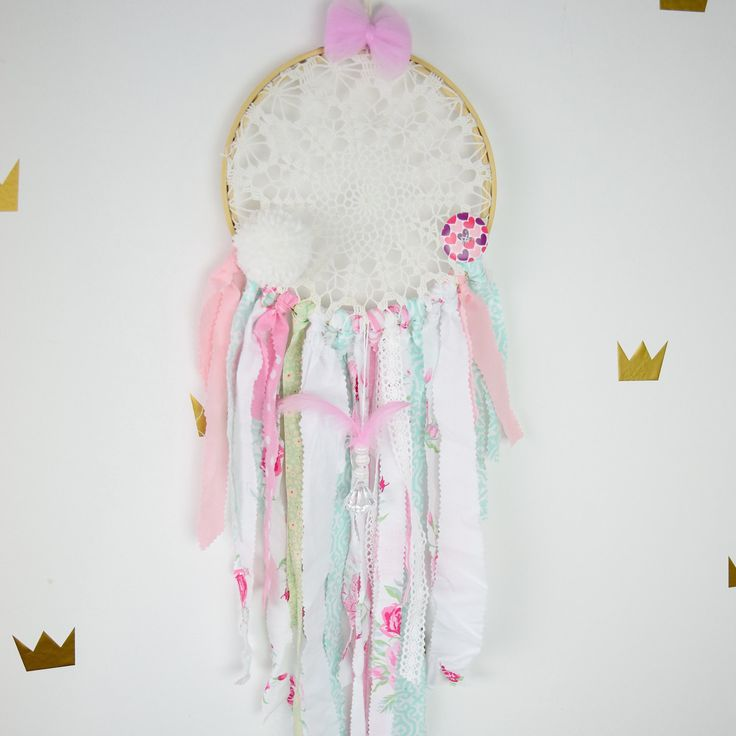 Dream catcher Kids Teepee Decoration Wall art dreamcatcher wall hanging mobile- Flower Power by MamaPotrafi on Etsy