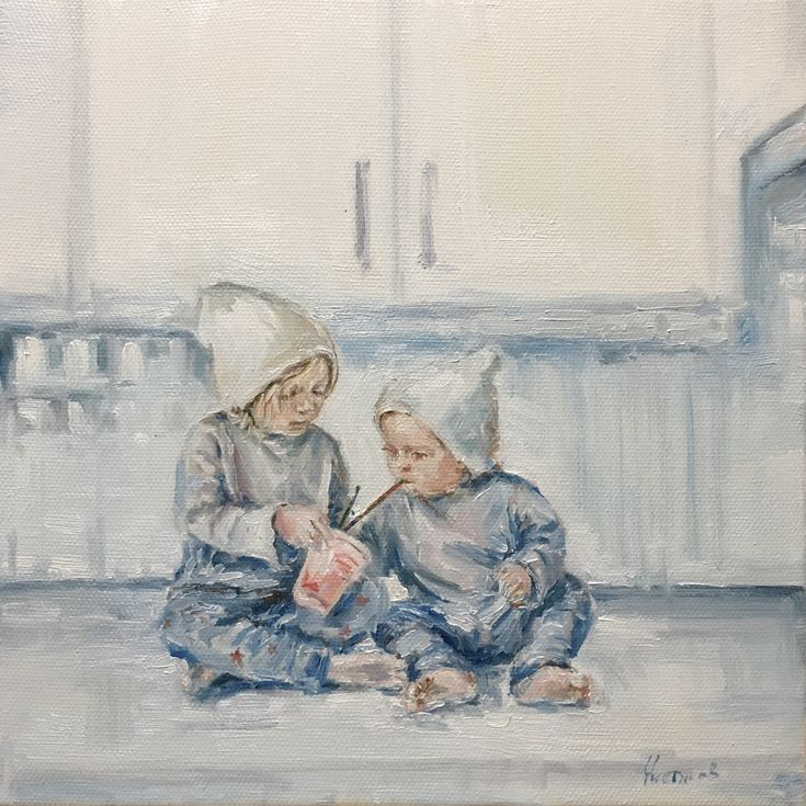 A personal favourite from my Etsy shop https://www.etsy.com/listing/561535820/home-decor-oil-painting-little-children