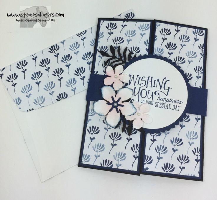 Stamps-N-Lingers. Better Together stamp set. Floral Boutique DSP. Botanical Builder Thinlits. Shutter Card on the inside! https://stampsnlingers.com/2016/06/12/stampin-up-better-together-birthday-shutter-card/