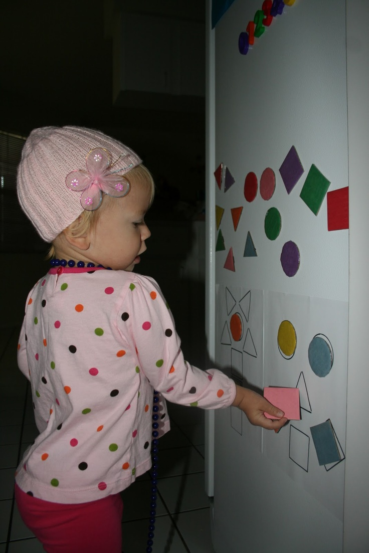 Magnets to teach shape and colour!
